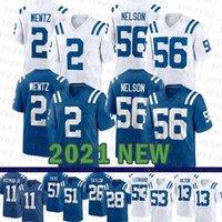2021 NUEVO Indianapoli Mens Colt American Football Jersey 2 Carson Wentz 28 Jonathan Taylor 53 Darius Leonard 56 Quenton Nelson 51 Kwity PAYE
