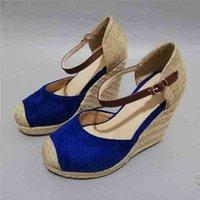Meotina Femmes Sandales Sandales Summer Chaussures Plateforme Croîchements Chaude Chaussure Bohême Bohême Espadrille Rouge Grande taille 34-43 210619 0VP0