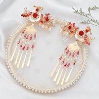 Gelin headdress Çince Xiuhe Suit Phoenix Coronet Xiayao Tost Giyim Saç Aksesuarları Antik Kostüm Püskül Phoenix Crown Phoenix Coro