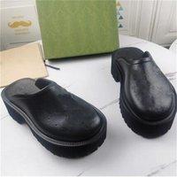 Designer Women Hole Pantofoles Luxury Mens Sandali in gomma 5cm / 2,5 cm Thick Bottom Eva Shoes Summer Beach Aumentato piattaforma antiscivolo scatola scarpe casual