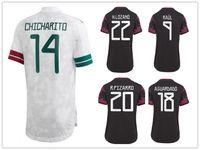 여성 멕시코 성격 맞춤형 디자인 20-21 14 chicharito 태국어 품질 유니폼 축구 유니폼 셔츠 18 A.Guardado 22 H.Lozano 온라인 9 Raul 11 Carlos V Football