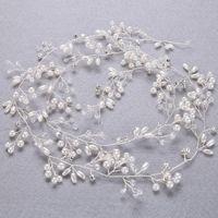 Hair Clips & Barrettes Elegant Classic Crystal And Pearls 1 1.5 Meter Wedding Headpiece Vine Accessories Headband Bridal Headdress