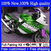 BMW k1200 녹색 화이트 s k 1200 s k1200s k1200-s 05-10 bodywork 4no.4 K-1200S 05 06 07 08 09 10 K 2010 2010 완전 페어링 키트