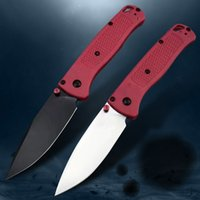 BM 535 Red Handle Folding Blade Knife Mark S30v AXIS Tactical Outdoor Camping Hunting Knife Portable Self-Defense Multifunctional Fishing EDC Tool