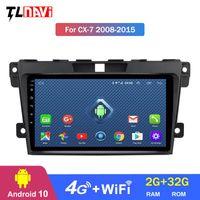 Jugador 4G LTE 2G Multimedia Video Android 10 GPS Navegación Radio WiFi OBD2 para 1 CX-7 CX7 CX 7 2008-2021 DVD