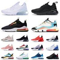 2020 stock x max 270 react Travis Scott airmax 270 koşu atletik ayakkabı tasarımcısı sneakers En Kaliteli erkek kadın Çekirdek Beyaz etiketi barey gül Yeni EPIC Eğitmenler