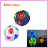 Rompecabezas esféricos de fútbol de 12 orificios de fútbol de fútbol de los juguetes de los tíos del arco iris creativo del arco iris Magic Cube Toy Presión de la presión para el autismo Necesidades especiales