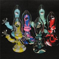 Silicone water pipe smoke hookah with Eye Decoration Smoking Accessories Bongs glass bowl Tobacco Dab Rig Kits ash catcher