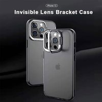 Lens Camera Protective Phone cases For iPhone 13 12 11 Pro Max Xs XR X SE 7 8 plus PC back soft TPU bumper Kikstand case