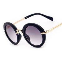 Nette klassische retro-runde Metallsonnenbrille für Kinder