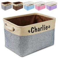 Dog Apparel Personalized Toy Basket No Smell Storage Box Free Print Name Baskets For Dogs Clothes Shoes Pet Accessories With