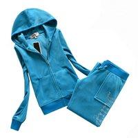 Women's Two Piece Pants Juicy Tracksuit Coutoure Women Velvet Track Suit Couture Sportswear Jacket Fall Winter Set Brand