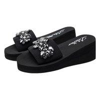 Femminile di san di san femmina febbre di cristallo a mani flip flop sandali pantofole scarpe da spiaggia chinelo feminino ver o # g35