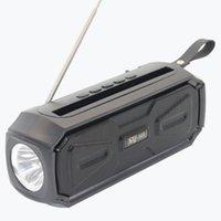 SY968 Güneş Bluetooth Hoparlörler Flaş Işık 1200 mAh Açık Taşınabilir Müzik Çalar Şarj Edilebilir Radyo Kablosuz Ses Kutusu Toptan