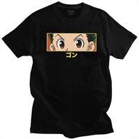 HXH GON 눈 옴므 남성 T 셔츠 순수 면화 헌터 X 티 둥근 목 짧은 소매 일본어 만화 애니메이션 상품