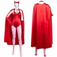 Wanda Vision Scarlet Hexe Maximoff Cosplay Kostüm Frauen Jumpsuit Outfit E Für Animation Ausstellung Strand Urlaub Sexy Partyabrab Nachtkleider