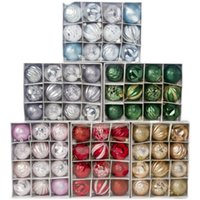 4cm Christmas Tree Set Ornaments Christmas Pendants Hanging Plastic Balls Decorations Ball 34Pcs Ball Holiday Decorations Hsvot 2026 Y2