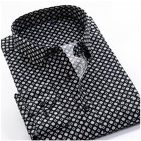 Grande tamanho 8xl 9xl 10xl vrokino marca 2021 vintage impressão floral mangas compridas mens business vestido casual moda camisa clássica