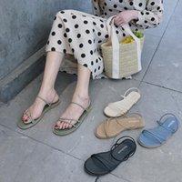 Yaz Kadın Sandalet Burnu Açık Ayakkabı Kadın Sandles Kare Topuk Kore Tarzı Gladyatör