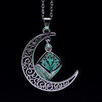 Лунная звезда свечения в темном кулонке ожерелье сплавов покрытые подвески ювелирные изделия VJBO4 UWOVA 2165 Q2
