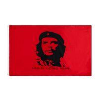 Memorial Cuban Held Kuba Rote Revolution Che Guevara Flagge Hohe Qualität Einzelhandel Direkte Fabrik Großhandel 3x5FTs 90x150cm Polyester für Indoor Outdoor Decoration