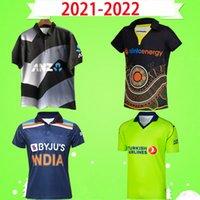 2020 2021 2021 2021 2022 نيوزيلندا أيرلندا الهند أستراليا الكريكيت جيرسي الركبي قميص البيسبول اللينة موحدة سوبر الدوري قصيرة الأكمام الوطنية فريق S-5XL أسود