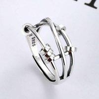 S925 sterling silver fashion temperament ladies three-finger smart index finger turn multi-circle bead decoration birthday gift anniversary