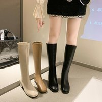 Boots Women's Autumn Sexy Thigh High Heels Female Shoes Luxury Designer Zipper Over-the-Knee Ladies Leather Rubber Fas