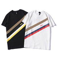 Mens T Shirts Mangas cortas de verano 2021 Moda impresa Tops Casual Al aire libre Hombres Tees Cuello Personal Ropa 21SS Tshirt QAQ