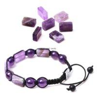 8x12mm Grooving Yoga Seven Chakras Natural Stone Bracelet beads Gemstone Amethyst Agate Lapis Tiger Eye Bracelets for women men jewelry will and sandy