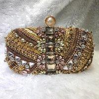 Perlen bestickte Abendtasche Handgemachte Kupplung Diamant Set Bankettfrauen Antike Cheongsam Kleid Taschen