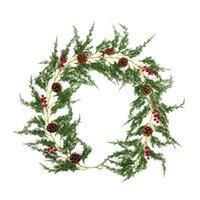 Декоративные цветы венки искусственные рождественские лозы стены висит высококачественный западный стиль реалистичные природные симуляторы ротанга сосна Nee