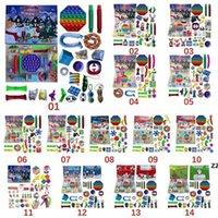 Tiktok Weihnachten Zappeln Spielzeug Adventskalender Set Dezember 24 Tage Push Blase 24 teile / satz Silikon Stress Reliever Sensory Spielzeug