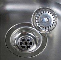 Hohe Qualität 79.3mm 304 Edelstahl Küchenabläufe Waschbecken Sieb Stoppen Sie Abfallstecker Filter Badezimmer Waschtisch Drain ood6369