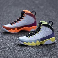 con scatola cambio il mondo 9s mens scarpe da basket bianco deserto bacca guarigione arancione cactus fiore 9 uomini formatori sneakers cv0420-100
