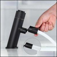Bathroom Faucets, Showers As Home & Gardethroom Sink Faucets Latest Matte Black Push Button Design Flexible Spout Washbase Taps Vessel Mixer
