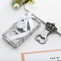 Party Favor 10 Pcs lot Favors Wedding Souvenir Gifts Personalized Crown Bottle Opener Presents For Baby Shower Guest Giveaways