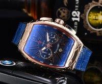Die hochwertige Luxus-Watchbr-U1-Quarz-Uhren Alle fünf Nadeln Arbeit Bezel Edelstahl Herrenuhr Franck Marke Black Cobra FM