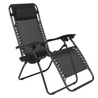 US stock Portable practical 2pcs black Patio Benches Folding Chairs with Saucer Plum Blossom Lock for security
