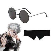 Jujutsu Kaisen Gojo Satoru Cosplay Glasses Blindfold Prop Anime Metal Frame Sunglasses Gift Accessories Y0913