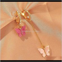 & Hie Jewelryspring Mixed Color Butterfly Hies Hoop For Women Rhinestone Crystal Small Earrings Wholesale Jewelry Drop Delivery 2021 Oh9Jb
