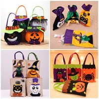 Halloween Tote Bag Pumpkin Candy Storage Bags Festive party Supplies 4 Styles Linen Halloween Decoration Handbag T9I001452