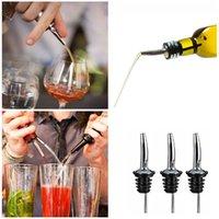 Atacado de aço inoxidável derramando dispositivo de oliveira derramador de derramamento de vidro bico de vidro bico de vidro bocado de vinho preto boca rrd6610