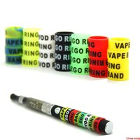 Non-Slip Silicon Vape Band Rings Silicone Protection Decorative Beauty Ring 13mm For Vision Spinner II EVOD EGO T Twist Series Battery DHL