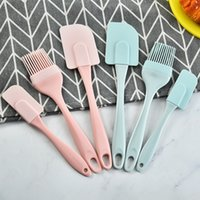 Baking & Pastry Tools Silicone Cream Scraper DIY Bread Cake Butter Spatula Mixer Oil Brush Kitchen Cooking Utensil 1847 V2