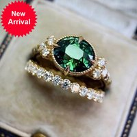 UILZ 2021 New Fashion Bridal Wedding Rings Luxury AAA Zircon Statement Ring Sets for Women Elegant Jewelry Accessories CRL1821