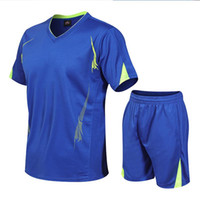 Men's Tracksuits Sports Suit T-shirt + Shorts Summer Running Sportswear Shirt Track Quick-drying