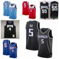 "Basketball Jerseys 5 de'aaron Fox Jason 55 Williams 4 Webber Hommes 2021 Sacramento ""Kings"" Jersey 730"