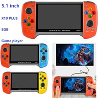 8GB 5.1inch X19 Plus Portable Retro Video Game Player Double Rockers Handheld Games Console Support TF Card TV-OUT MP4 Player high quality