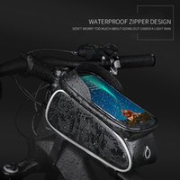 휠 위로 터치 스크린 자전거 가방 실용적인 내구성 다기능 휴대용 사이클링 방수 튜브 가방 액세서리 자동차 트럭 랙